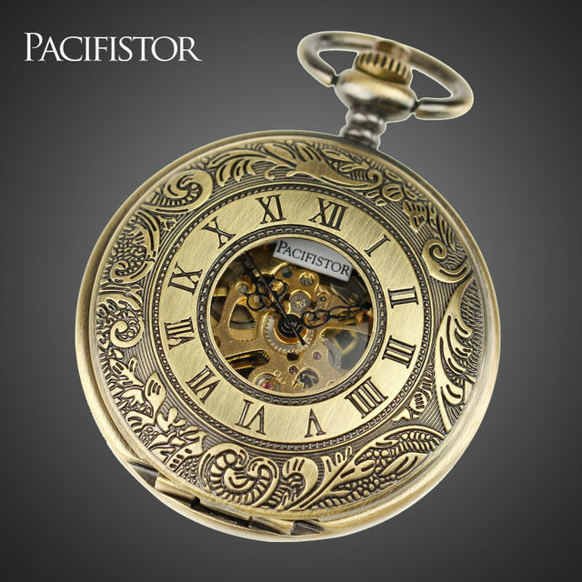 pacifistor pocket watches men stainless steel case classic pacifistor pocket watches men stainless steel case classic steampunk wind up vintage mechanical watches relojes hot