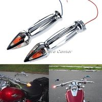New Arrival 1 Spiked Hand Grips With Turn Signal Light For Honda CBR600 RR CBR1000RR Black