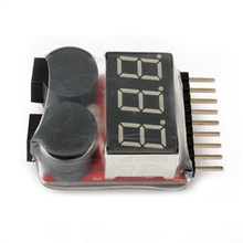 1-8S LED Lipo Voltage Indicator Checker Tester Low Voltage Buzzer Alarm    M09
