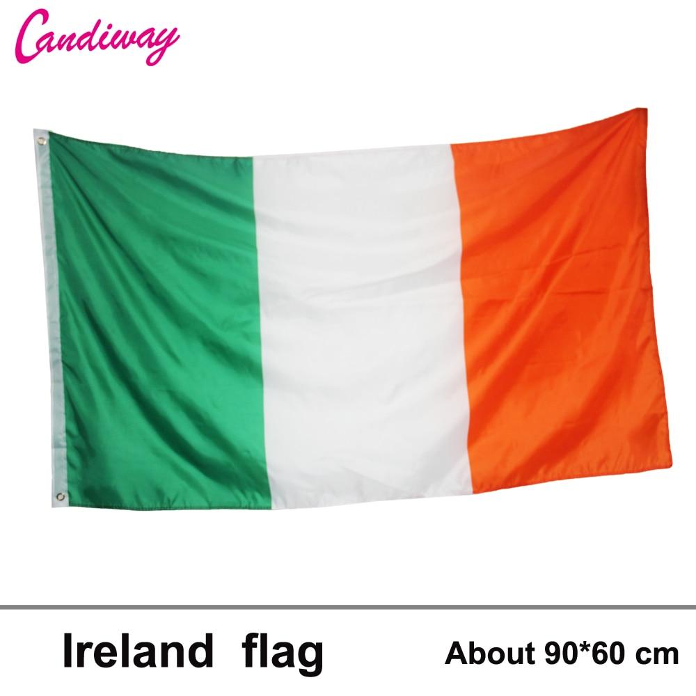 ᐂBandera Nacional de Irlanda 60*90 cm bandera interior decoración ...