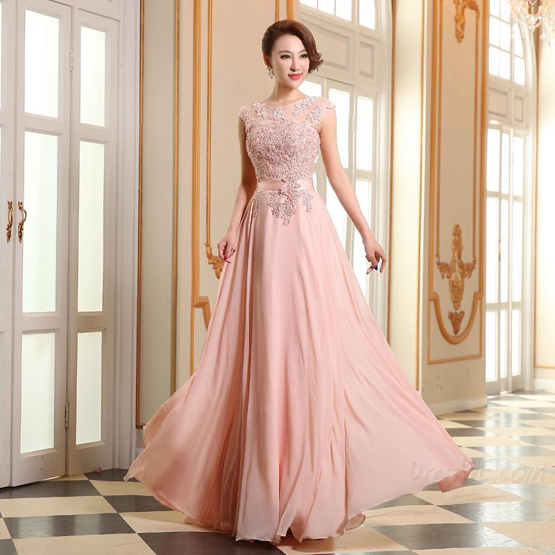 Red Floor Length Chiffon Sexy Long Evening Dresses Women