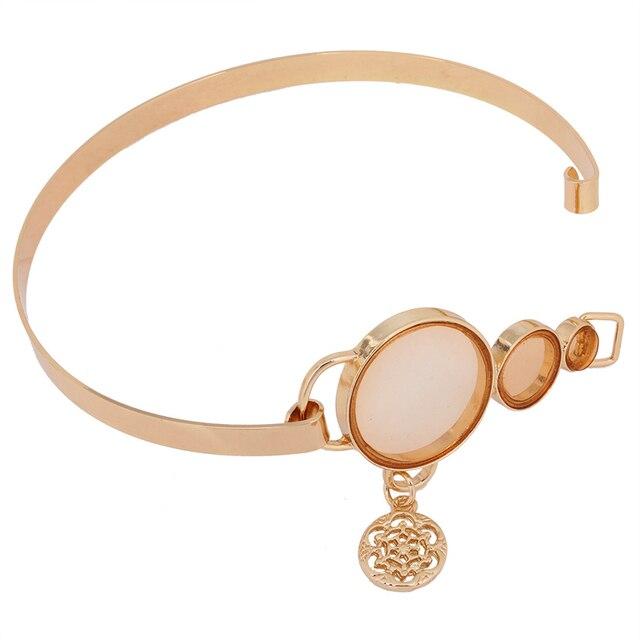 2016 nuevo de las mujeres de plata plateado torques gargantilla collar de oro de Color Resina collares joyería de moda Señora de la Oficina sautoir XD3901