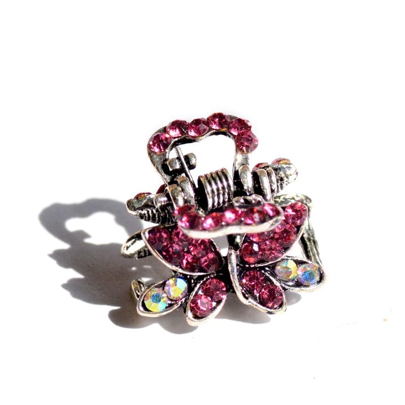 muylinda Butterfly Rhinestone Hair Claw Crab Smykker Vintage Women - Mode smykker - Foto 5