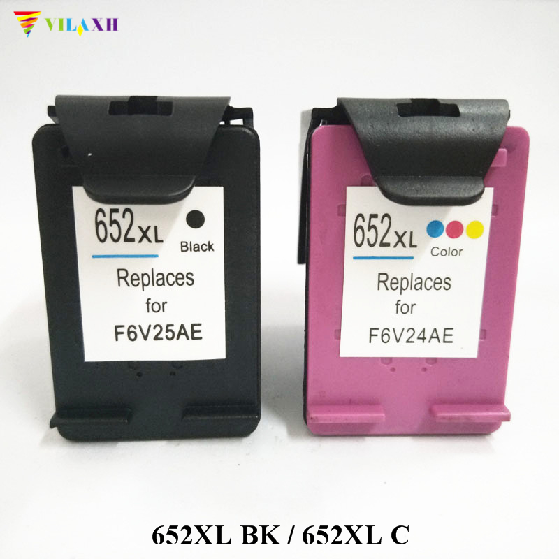 vilaxh <font><b>652</b></font> Compatible <font><b>Ink</b></font> <font><b>Cartridge</b></font> Replacement For <font><b>HP</b></font> 652XL <font><b>652</b></font> xl Deskjet advantage 1115 1118 2135 2136 2138 3635 3636 Printer image