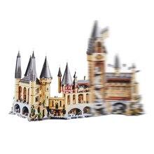 Гарри Magic Potter Хогвартс замок Совместимость Legoing 71043 строительные блоки кирпичи детские развивающие игрушки для детей