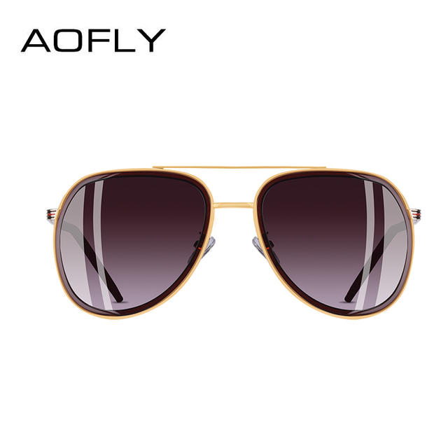 AOFLY BRAND DESIGN Polarized Pilot Sunglasses Men Women Sunglasses Metal Frame Oval Lens Eyewear UV400 A122 2