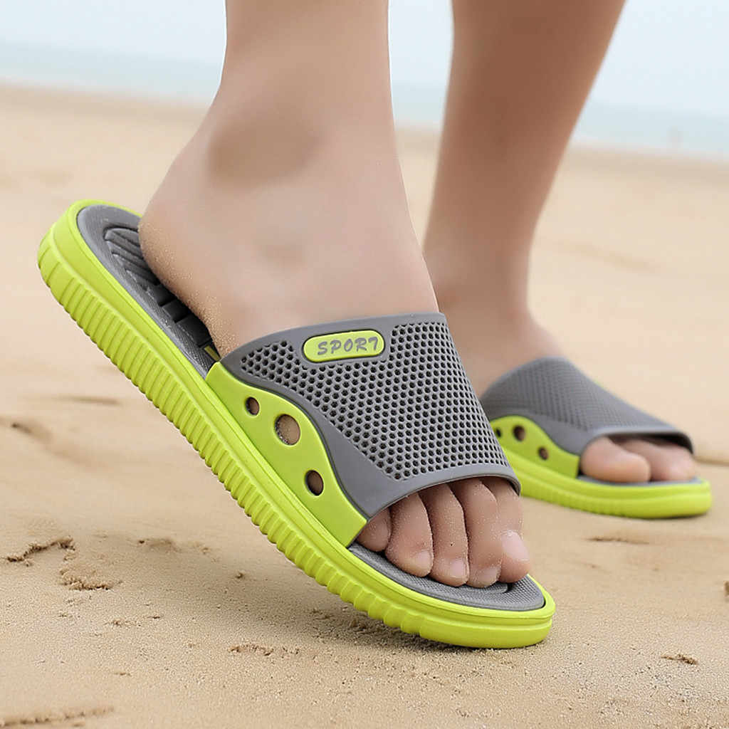 2019 ใหม่แฟชั่นผู้ชาย Casual ฤดูร้อนกลางแจ้ง Anti-skidding รองเท้าชายหาดรองเท้าแตะรองเท้าแตะ для пляжа тапочки # XB20