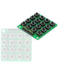 8pin 4x4 4*4 Matrix 16 Keys Button Keypad Keyboard Breadboard Module MCU for arduino Speaker Accessories(China)