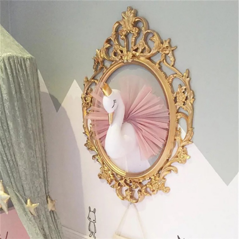 Pink Swan Wall Hanging Decor Stuffed Toys Doll For Girl