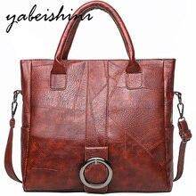 Woman Casual Tote Bag Sac A Main PU leather Hand Bag Big Capacity Woman Retro Shoulder Bag luxury handbags women bags designer недорго, оригинальная цена