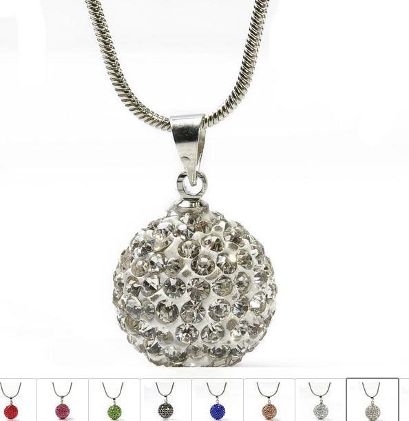 056479008f4d ¡Venta caliente! Envío gratuito 10mm rojo cristal Micro Pave Disco bola  plata Shamballa pendientes collar conjunto joyas venta al por mayor.