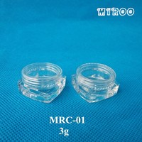 50pcs Transparent Cosmetic Container with Clear Lids for Eye Cream, Sample Packaging