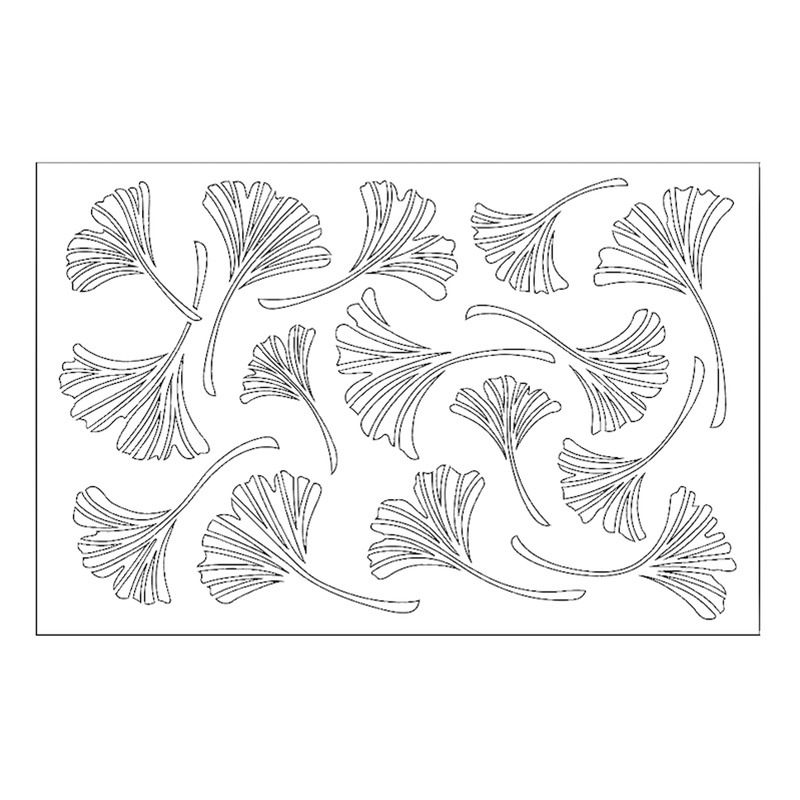6x9in Ginkgo Leaf Plastic Stencils For DIY Scrapbooking Decorative Embossing Suit Paper Card Die Cutting Template Drawing Sheet in Cutting Dies from Home Garden