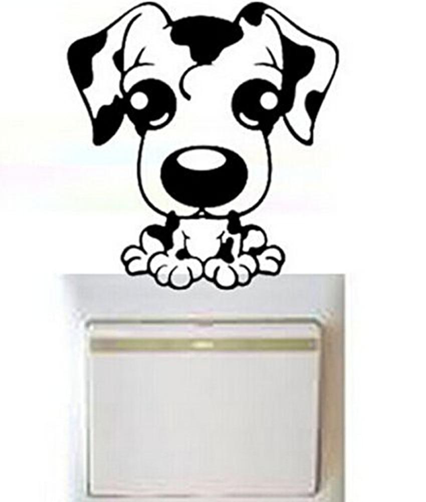 ୧ʕ ʔ୨Envío Gratis divertido perro adhesivo etiqueta interruptor ...