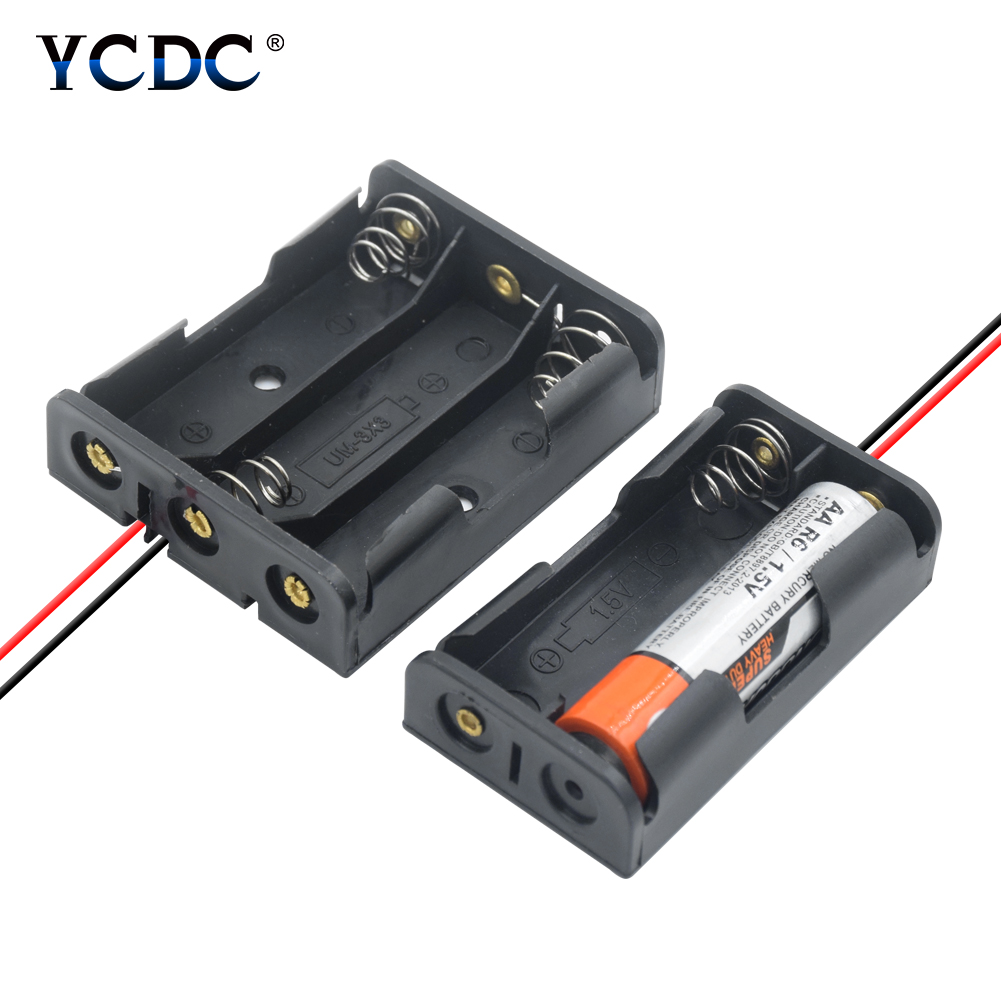 """10 x Battery Holder Box Case 8 AA size 12V Clip Type w// 6/"""" Wire Lead NiCd NiMH"""