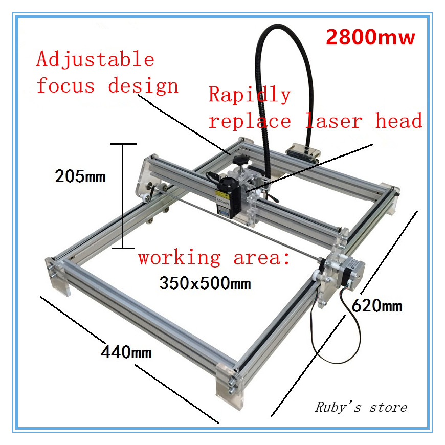 2016 New 2800MW  DIY laser engraving machine for toy  laser cutting machine ,2.8w laser engraver,working area 35*50cm футболка toy machine leopard brown