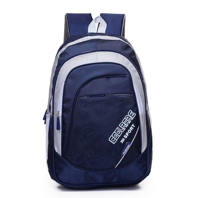 Middle School Boys Girls Double Shoulder School Bags Letters Children Backpacks Schoolbag Men Travel Bag Q5