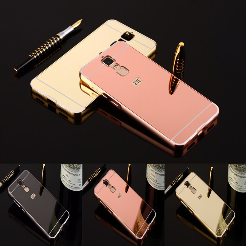 hot sale online e4f9f fa686 US $3.05 |Aliexpress.com : Buy For ZTE Blade A610 Plus Phone Case 5.5 inch  Luxury Rose Gold Mirror Back Cover shell For ZTE Blade A2 Plus Cases for ...