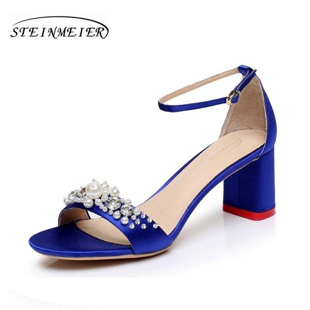 Zapatos azules de verano para mujer CzLgR