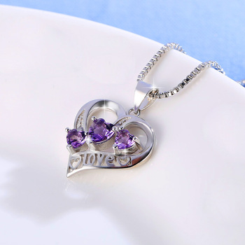 Simple Three Heart  Exquisite crystal Necklaces & Pendants  3