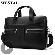Westal Shoulder Messenger Women Men Bag Genuine Leather Brie
