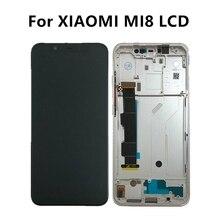 Para Xiao mi Display LCD de Toque Digitador Da Tela Para Xiao mi 8 8 Montagem LCD Xiao mi mi mi mi display AMOLED 8 mi 8 Substituição Da Tela