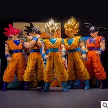 Japón Animación de Dragon Ball Z goku figura de acción juguetes de PVC grande 40 CM Super Saiyan goku alta calidad juguetes clásicos para niños regalos