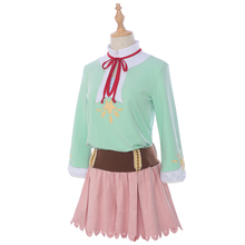 New Clear Card Cardcaptor Sakura Cosplay Costume Kinomoto Daily Suits Tops+Skirt Halloween Costumes for Women