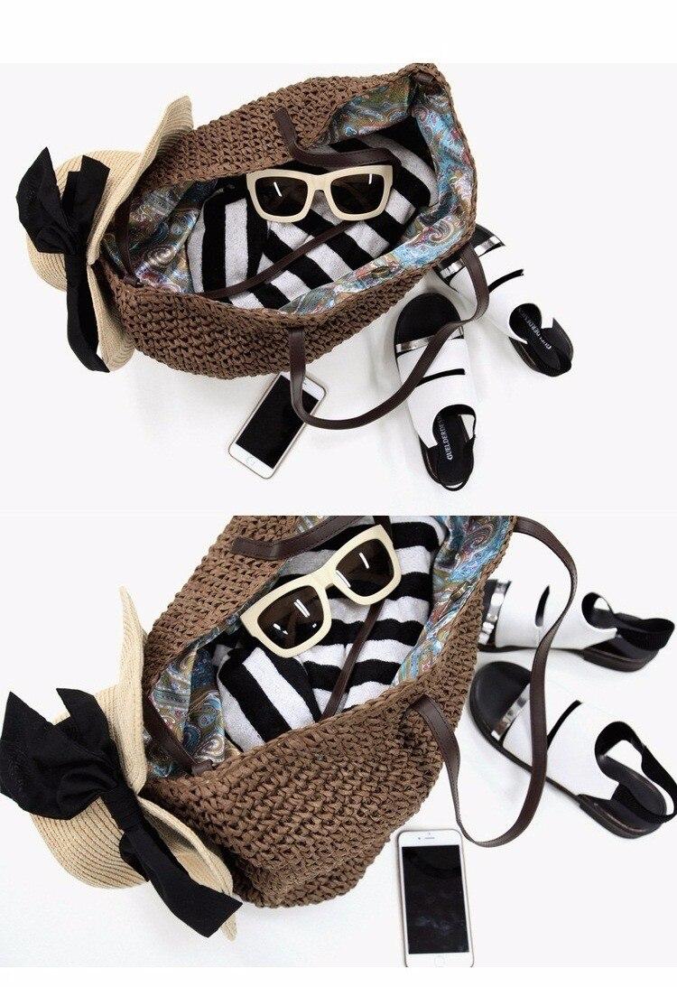 Weave Straw Beach Bag Knitting Rattan - Gypsy Girls f24dc272c3ac