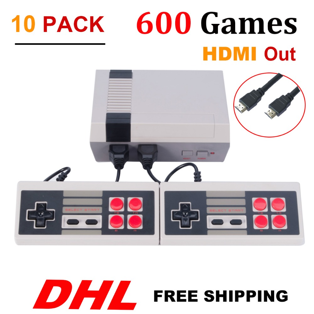 10PCS HDMI HD Out Mini TV Game Console Video Game Console with 600 Different Built in