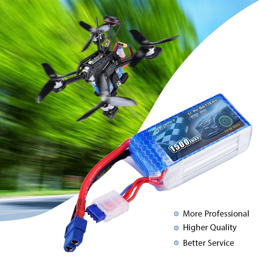 2 pièces LiPo Batteries SEASKY 11.1 V 1500 mAh 75C Max 120C pour RC hélicoptère Drone/voiture/bateau Quadrotor 3 S LiPo rechargeable - 5
