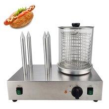 Edelstahl Elektrische Hot Dog Wärmer Edelstahl Wurst Wärmer, Der Maschine Mit 4 Sticks Wurst Roller Wärmer