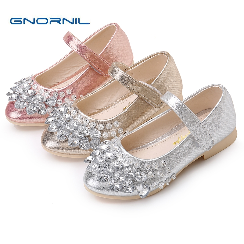 2017 New Autumn Children Shoes Girls Shoes Fashion Rhinestone Princess Flat PU Leather Kids Shoes for Girl Party Dance Shoes kids sneaker girls dance shoes pu baby princess flat flowers single shoes spring summer autumn children student leather shoes