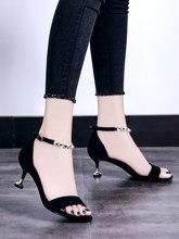 d9c7a41b2 Cat and shoes women 2018 summer new 5cm sandals women s high heels Korean  version of the