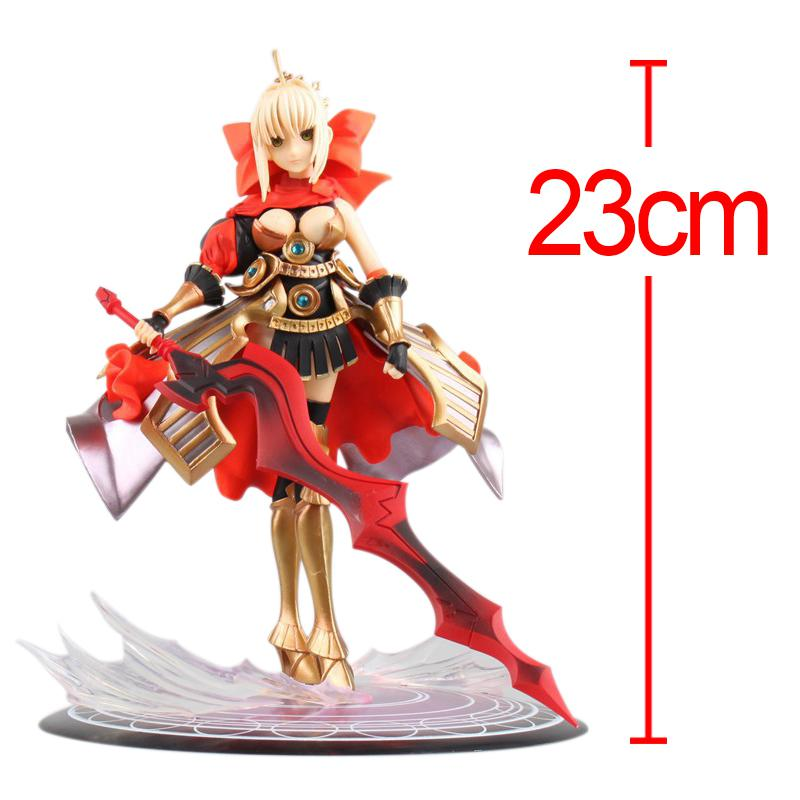 C&F Fate/stay night Anime Action Figure Toys 23 CM Nero Claudius Cute Woman Display MIni PVC Model Collectible Figures Toys anime cartoon cute sleeping pikachu lucario mudkip torchic dedenne froakie fennekin chespin mini pvc figures model toys 3 5cm