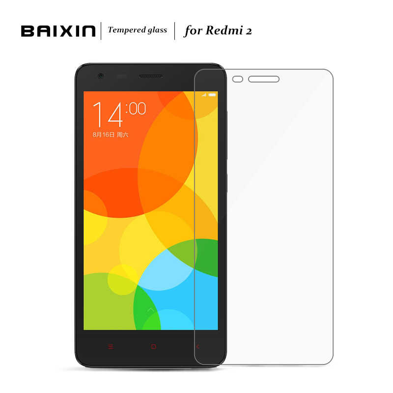 BAIXIN for Xiaomi Redmi 2 Screen Protector Tempered Glass  for Xaomi Xiomi hongmi Redmi2 Protective Film