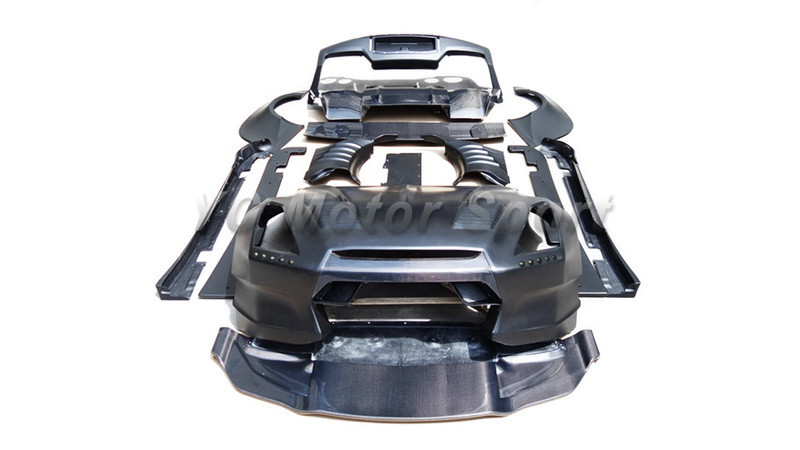Car Accessories FRP Fiber Glass BSP Style Body Kit Fit For 2008 2014 R35 GTR CBA
