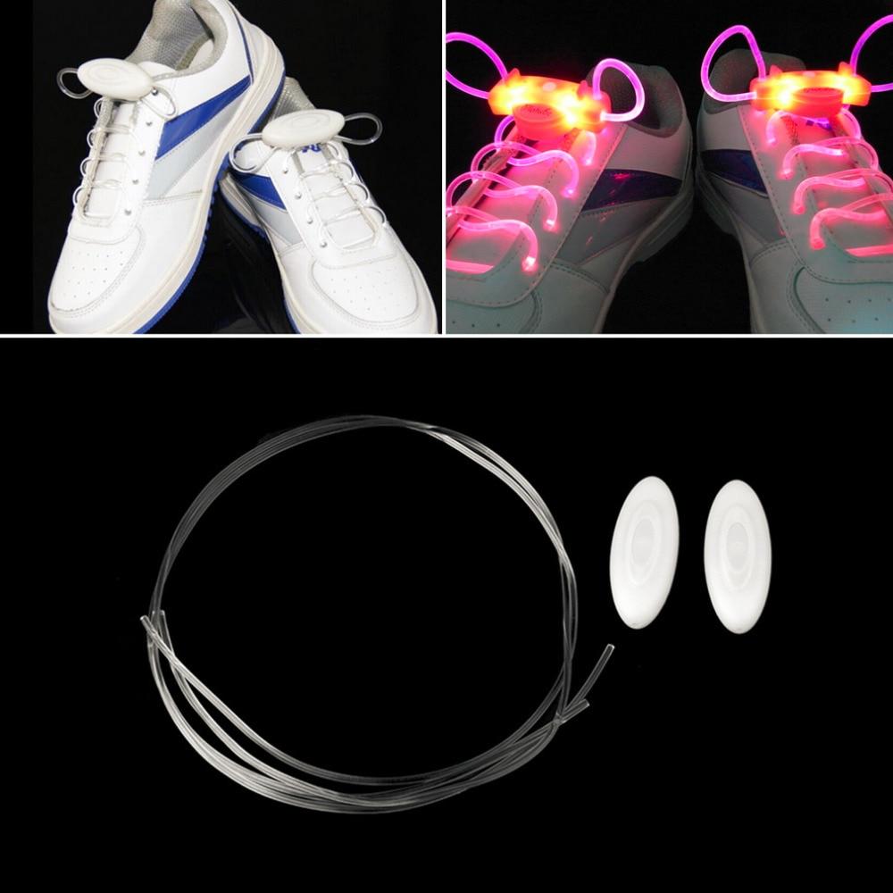 4 Colors LED Sport Shoe Laces Flash Light Glow Stick Strap Shoelaces Disco Party Club 2020 Hot Selling