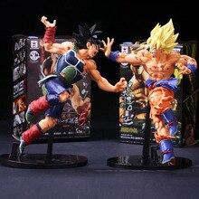 2Pcs/lot Japan Anime Dragon Ball Z Son Goku Burdock Super Saiyan Model Toys PVC Action Figure Dragonball Cartoon Doll Toys