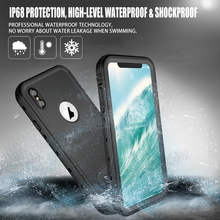 hot deal buy  ip68 waterproof case for iphone xs max 360 full protection cover for iphone xs max shockproof kickstand case for iphone xsmax