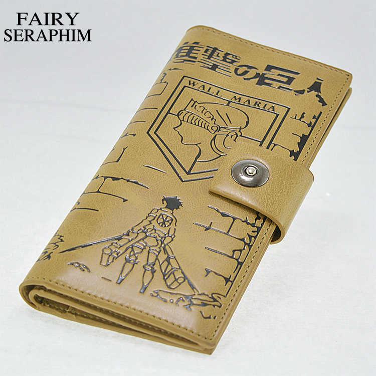 Fairy seraphim PU материал Shingeki no Kyojin для косплея по аниме «атака на Титанов» (чехол-бумажник с рисунком «Крылья» кожа аниме держатель для карт, кошелек