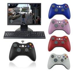 وحدة تحكم عن بعد لاسلكية 2.4G للوحة تحكم لجهاز Xbox 360 مع جهاز استقبال الكمبيوتر اللاسلكي لجهاز Microsoft Xbox360 وحدة تحكم Manette