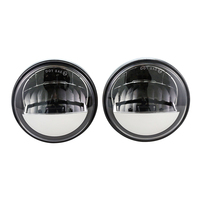 One Pair 4.5 Inch 15W Reflector LED Fog Light headlight White For Halo Passing Lamp For Harley for Motorcycle