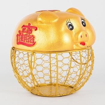 Ceramic egg holder iron storage fruit basket creative collection ceramic piggy oranments decoration kitchen accessories