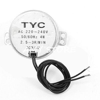 49 TYC-50 Synchronous Motor 220-240V 4W 0.8-1//2.5-3//5-6//8-10//10-12-36RPM Magnet