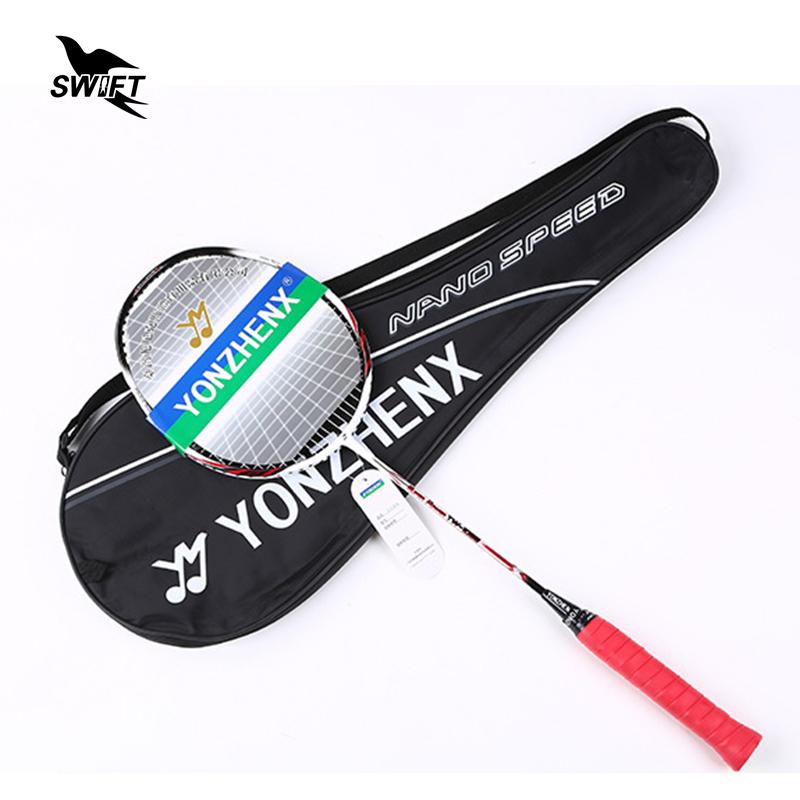 Prix pour Ultra Lumière Professionnel Badminton Raquette Avec D'origine Badminton Raquette Sac 2016 en Matériau Composite De Carbone Paddle Raquette