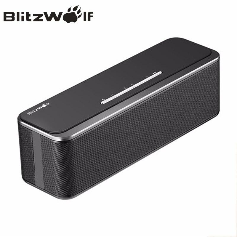 BlitzWolf 20W Dual 10W Mini Wireless bluetooth Speaker Portable Stereo Soundbar Dengan Mikrofon Untuk iPhone Telefon Mudah Alih PC Muzik