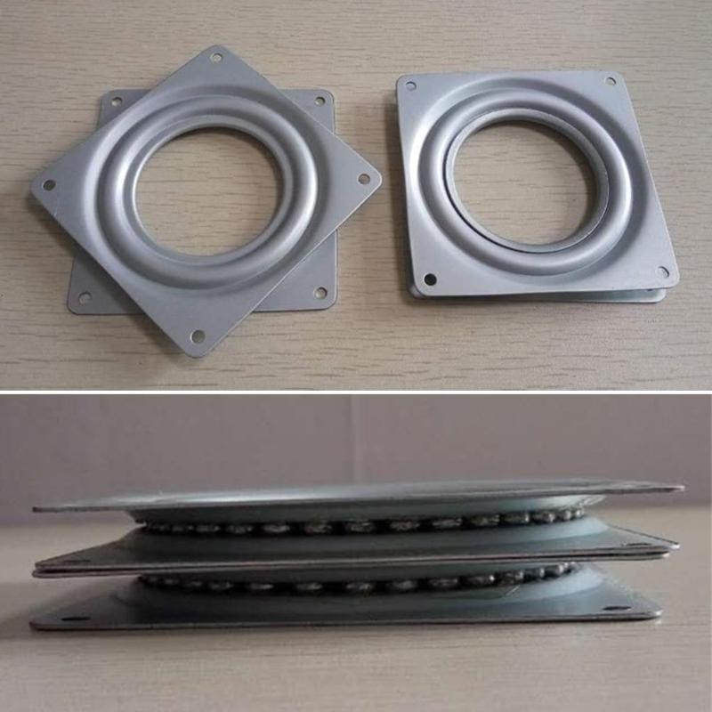 Heimwerker Möbel Hardware 4,5 Zoll Kleine Ausstellung Plattenspieler Lager Schwenk Platte Basis Scharniere Für Mechanische Projekte Hardware Fitting 11,6*11,6*1 Cm
