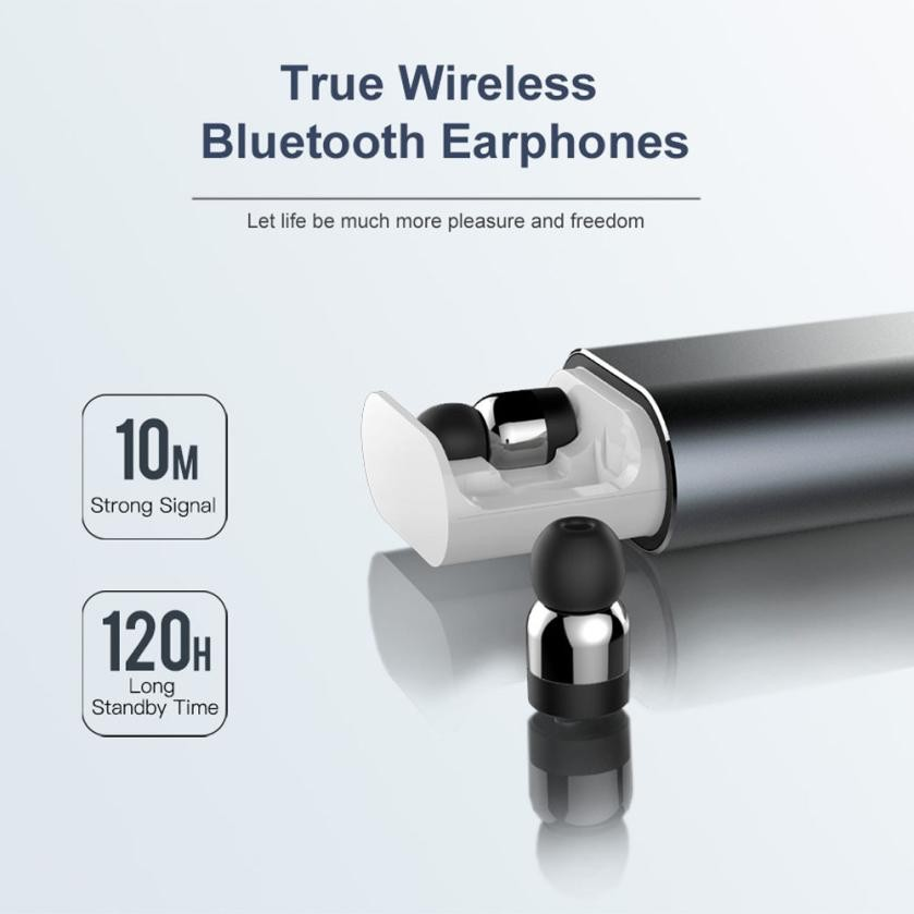 Colors T10 Bluetooth Headset TWS Wireless Sports Mini In-Ear With Charging Box Large-capacity drawer-type charging compartment коробка для мушек snowbee slit foam compartment waterproof fly box x large