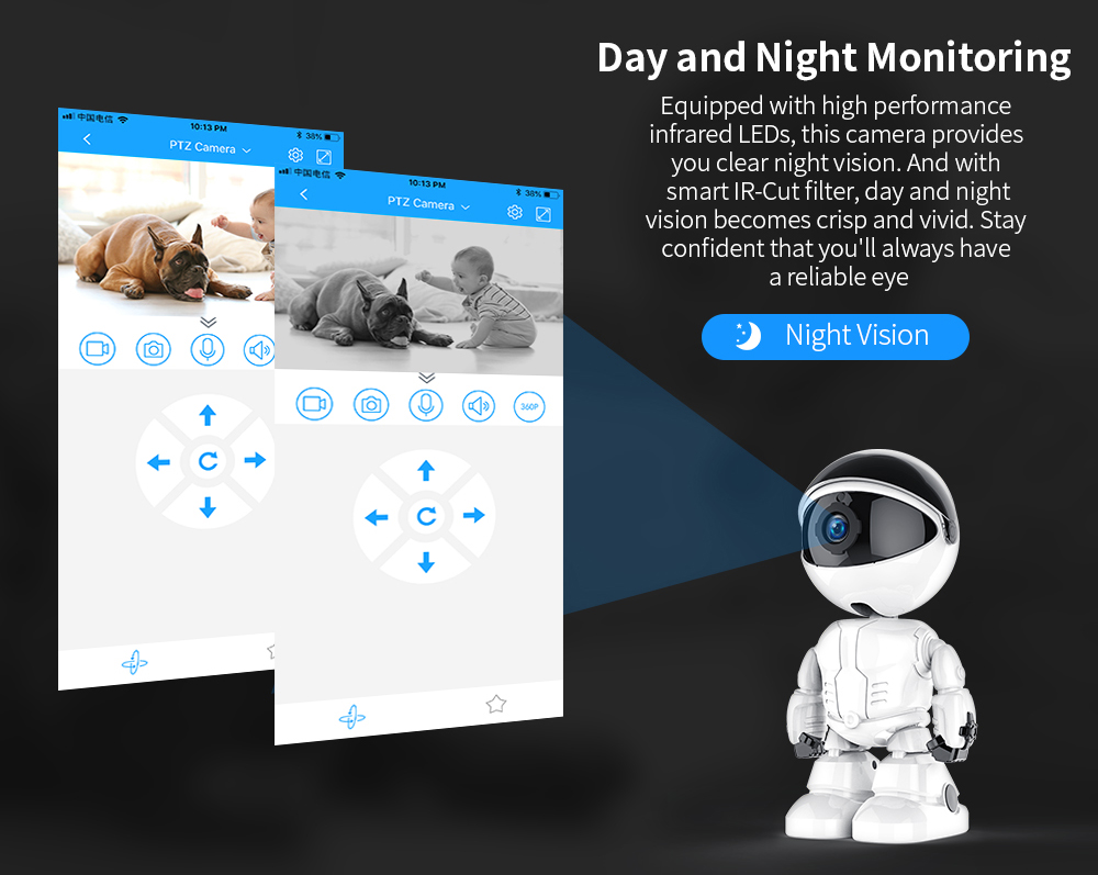 camera provides your clean night vision
